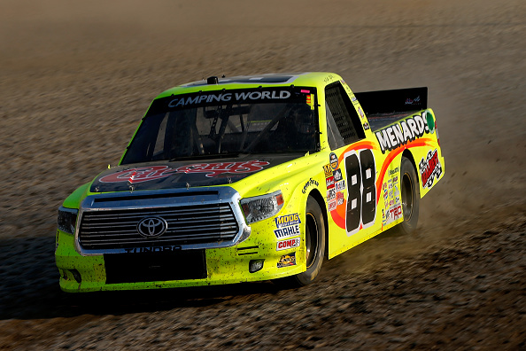 ROSSBURG, OH - JULY 19:  Matt Crafton, driver of the #88 Chi-Chi's/Menards Toyota, drives during practice for the 4th Annual Aspen Dental Eldora Dirt Derby at Eldora Speedway on July 19, 2016 in Rossburg, Ohio.  (Photo by Brian Lawdermilk/Getty Images)